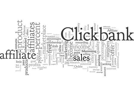 Clickbank The Percentages Are In Your Favor Banque d'images - 132216703