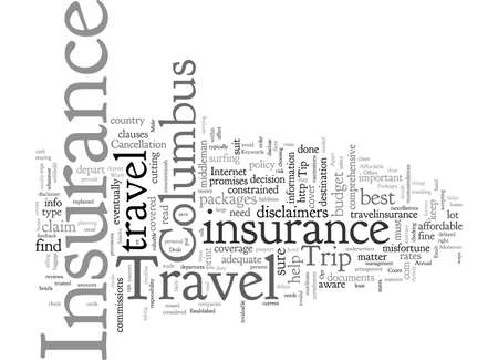 Columbus Travel Insurance Offers Affordable Deals Illusztráció