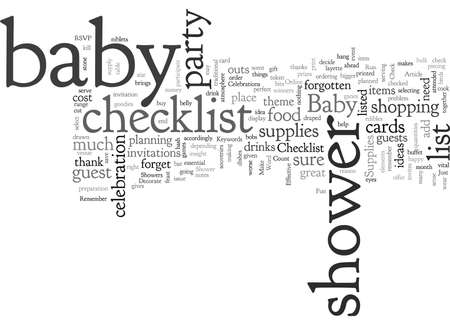 Check It Out Checklist for Baby Shower Supplies