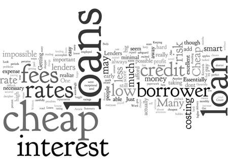 Cheap Loans How You Can Get One