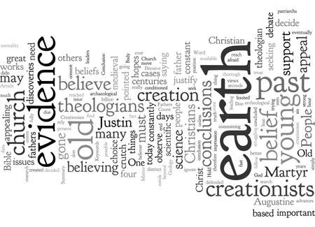 Church Fathers And Creationism 向量圖像