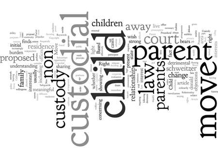 Child Custody and the Right to Move Away