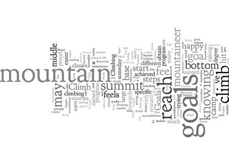 Climb and Summit Mt Goals