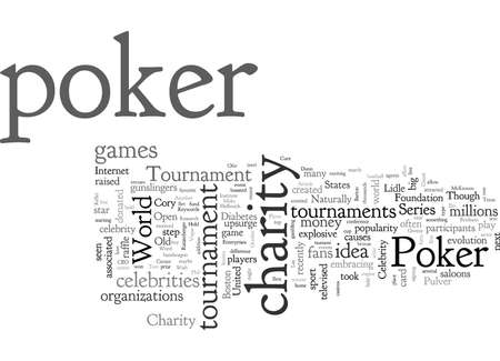 Charity Poker Tournament Vectores
