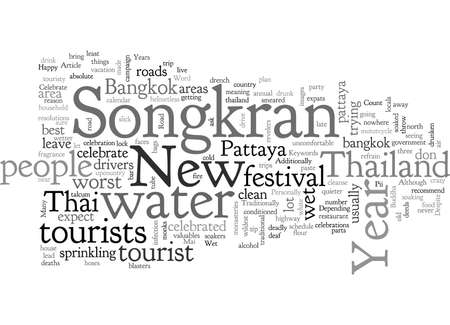 Celebrate Songkran in Thailand 向量圖像