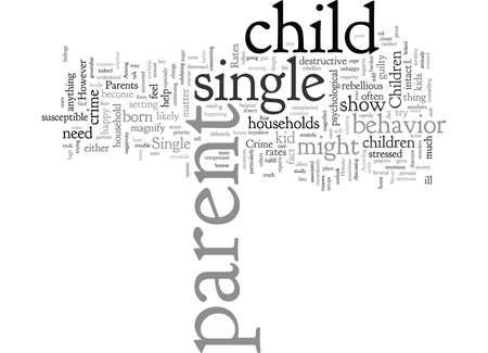 children of single parents and crime rates Illustration