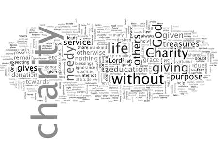 CHARITY AND SACRIFICE WHY AND HOW