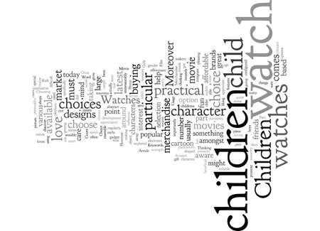 Kinderuhren eine gute Wahl Vektorgrafik