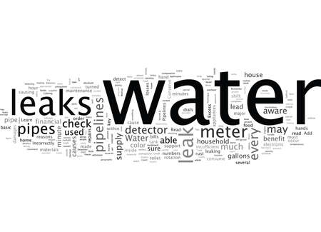 Check For Leaks Conserve Water And Save Money