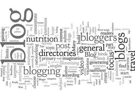 Choose Your Blog Type A Bloggers Choice Ilustração