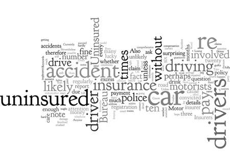 Car Insurance Involved In An Accident With An Uninsured Driver Illustration