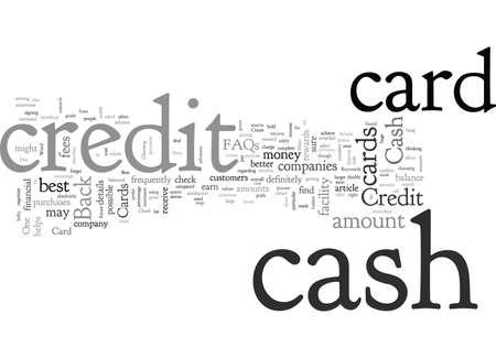 Cash Back Credit Card Some FAQs