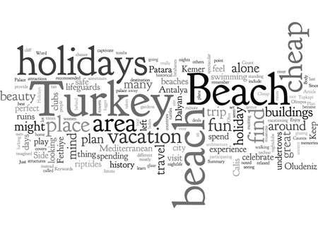 Vacaciones baratas a Turquía en la playa Ilustración de vector