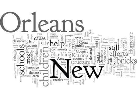 Children Across The Country Help New Orleans Students Иллюстрация