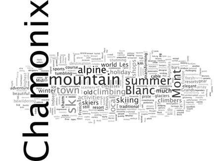 Chamonix-Mont-Blanc Vektorgrafik