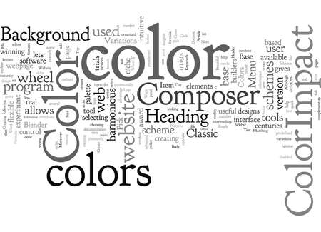 ColorImpact Create Beautiful Color Schemes For Your Website With A Single Click Фото со стока - 132217020