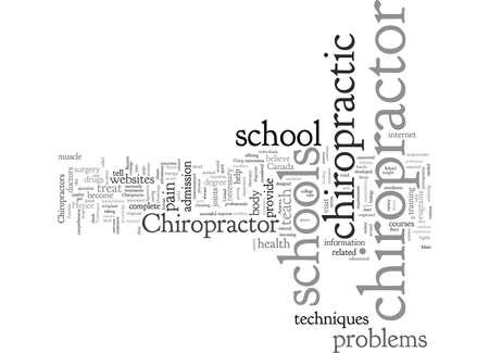 chiropractor schools