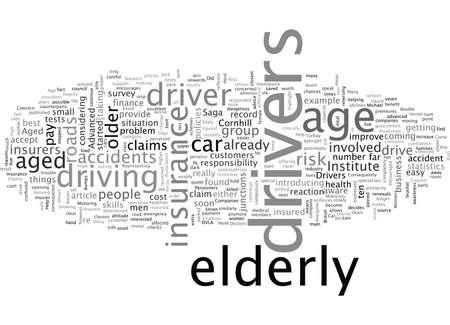 L'assurance automobile est plus difficile à trouver pour les retraités âgés Vecteurs