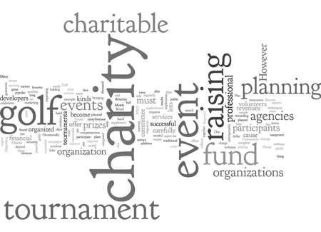 charity golf tournament Ilustração