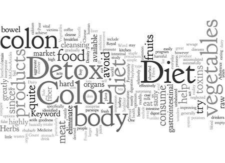 Colon Detox Diet  イラスト・ベクター素材