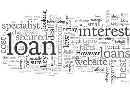 Check Out A Specialist Website For Low Cost Secured Loans