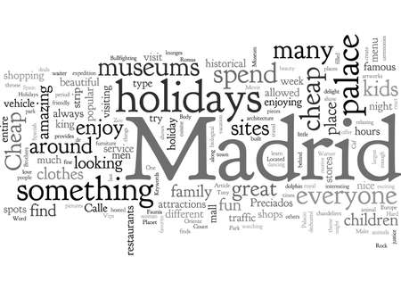 Vacanze economiche a Madrid Vettoriali