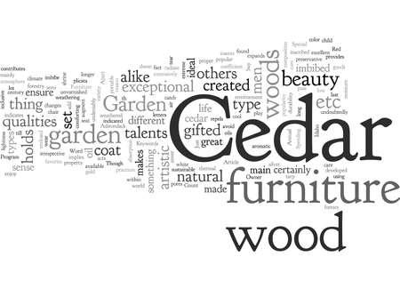 Cedar Garden Furniture An Owner s Pride