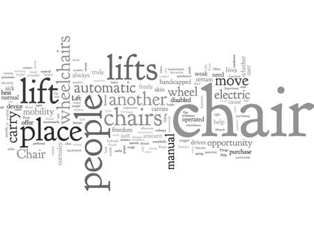 Chair Lifts Help Sick And Disabled People To Move Freely Stock Illustratie