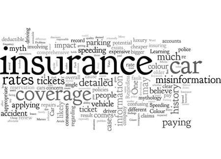 Car Insurance Myths Vektoros illusztráció
