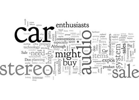 Car Stereo Sale Ilustração