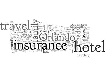 cheap travel insurance orlando hotel Ilustração