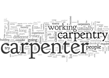 Carpentry Career Advantages Stock Illustratie
