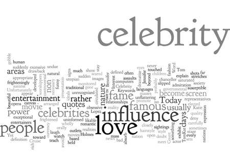 Celebrity Love Stock Illustratie