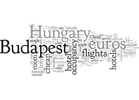 cheap flights and hotels in budapest hungary Ilustrace