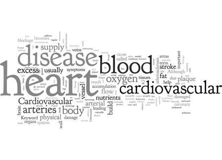 cardiovascular or heart disease Illustration