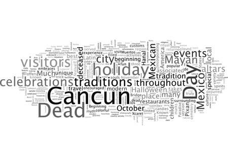 Feiern Sie mexikanisches Halloween in Cancun Vektorgrafik