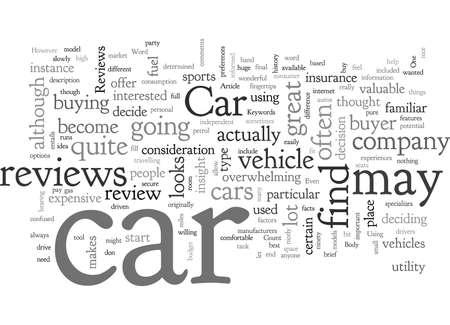 Car Reviews Vector Illustratie