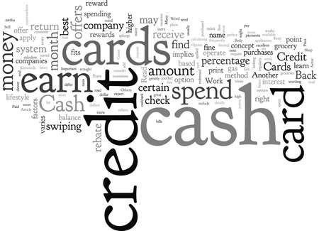 Cash Back Credit Cards Get Paid To Shop 矢量图像