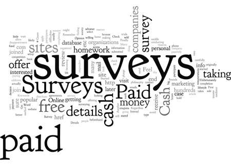 Cash Paid Surveys How To Get Started Ilustrace