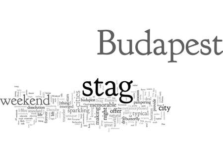 Consider a Budapest Stag Weekend Ilustrace