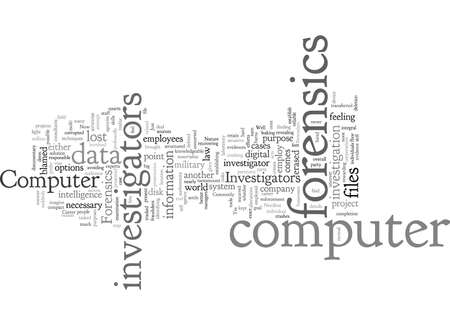 computer forensics investigators Ilustração