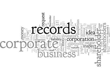 Corporate Records Shareholder Inspections Çizim