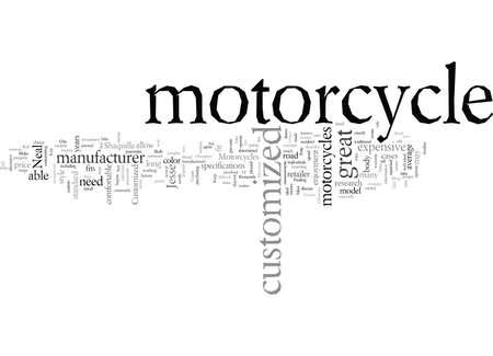 Customized Motorcycles Illustration