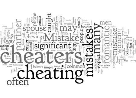 Częste błędy popełniane przez oszustów w związkach Ilustracje wektorowe