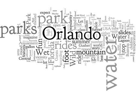 Kühlen Sie sich in einem Wasserpark in Orlando ab Vektorgrafik
