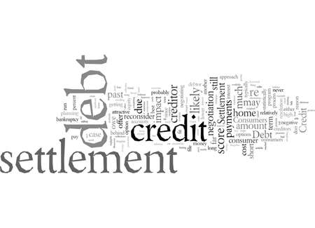 Debt Settlement And Your Credit