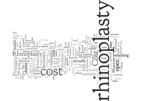 Cost of Rhinoplasty 向量圖像