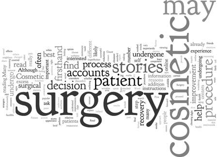 Cosmetic Surgery Patient Stories Why You Should First Read Them 일러스트