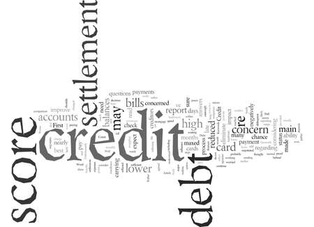 Debt Settlement And Your Credit Score