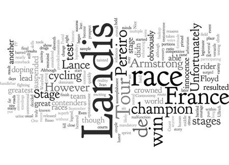 Controversy at the Tour de France Illustration